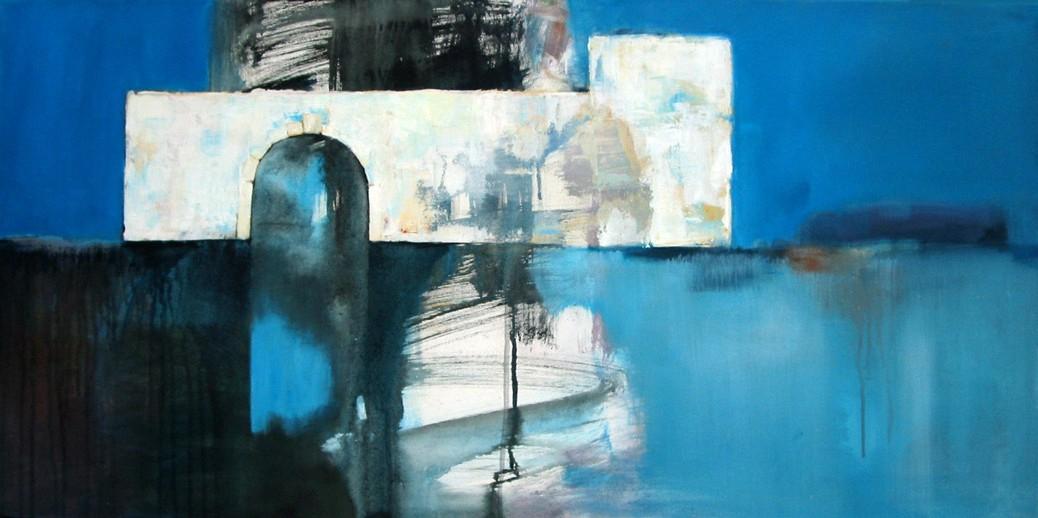 Das blaue Tor. Petra Plum Art - Malerei und Zeichnung