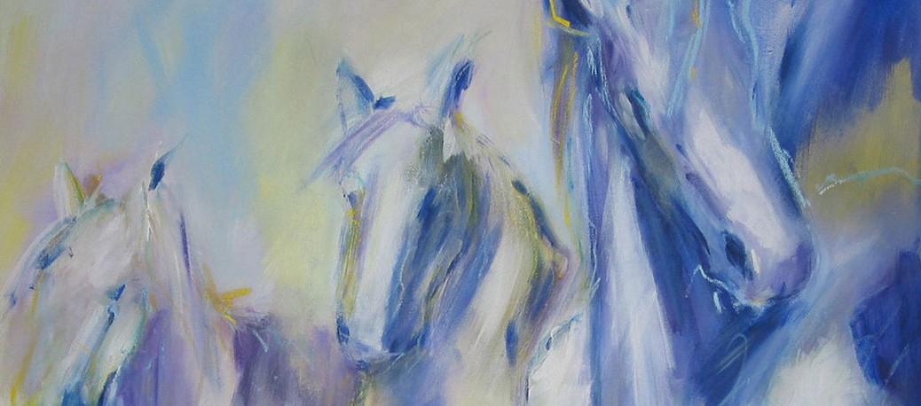 Petra Plum - Pferde Acryl Ausschnitt